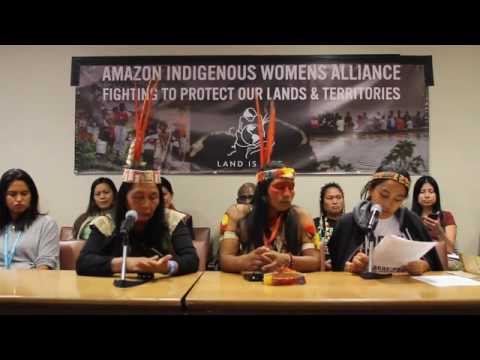 Amazon Women of Ecuador at UN Permanent Forum on Indigenous Issues